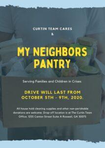 My Neighbors Pantry Curtin Team drive